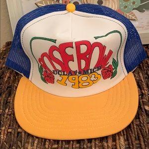 Amazing Vintage 1983 Rose Bowl hat.
